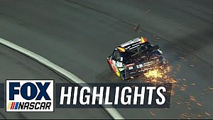 Alex Bowman suffers heavy damage after hitting the wall | 2018 All-STAR RACE