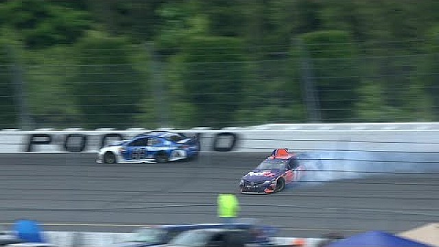 Denny Hamlin spins out late | 2018 Pocono