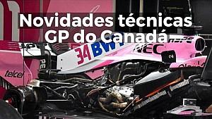 Novidades técnicas para o GP do Canadá