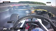 Crash entre Grosjean et Sainz