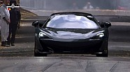 McLaren 600LT does donuts on its debut at Goodwood FoS